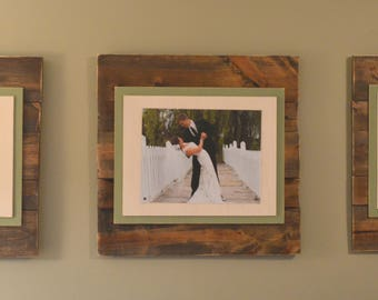 "3 x Custom Picture Frames 24x24"" for 11x18"" Photo"