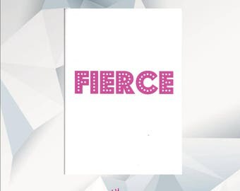 FIERCE ,Rupaul Birthday Card, Ru Pauls Drag Race Birthday Card, ADORE DELANO, Season 9, Bianca Del Rio, Courtney Act, Darienne Lake