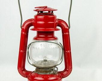 Vintage Red Dietz Comet Lantern Battery Powered Lightbulb