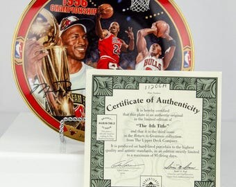 Upper Deck Limited Edition Michael Jordan The 4th Title Collectors Plate