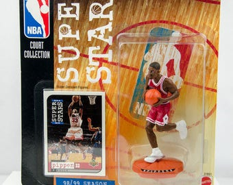 NBA Super Stars Court Collection 98/99 Scottie Pippen Action Figure Chicago Bull