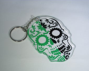 mulitcolored candy skull
