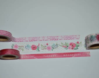 Washi Tape Sample Week/Floral 3 x 1m