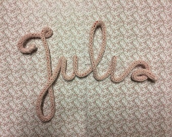 Name or Word in knitting