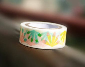 Corlorful Finger Print Washi Tape 1 Roll - 15mm x 5m - Gift Wrapping - Decorative Tape - Scrapbooking Sticker