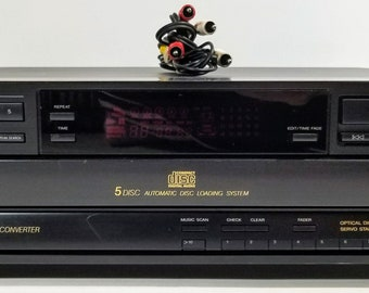 Sony CDP-C515 5 CD Changer Carousel Player With Cables 1991