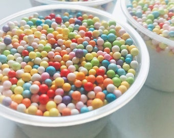 Milk and Cereal Slime (Foam Beads Slime)