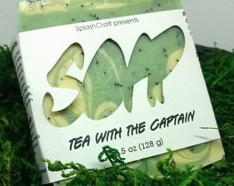 Tea with the Captain artisan bar soap
