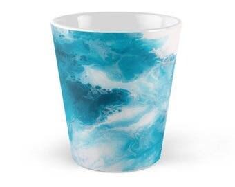 Original Art Print Coffee Tea Mug Cup - Blueberry. Custom Order, Pre Order.
