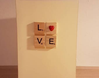 Scrabble Valentine's day card