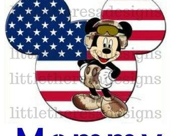 Proud Army Family Mickey Transfers,Digital Transfers,Digital Iron Ons,Diy