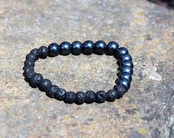 Men's Black is Back Aromatherapy Essential Oil Diffuser Bracelet