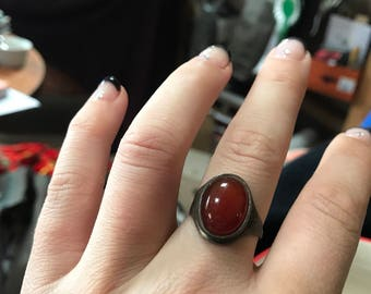 Gothic red ring