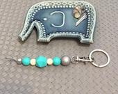 bright and colourful silcone bead key chains - Bag tag, lanyard clip, handbag clip, journal tag
