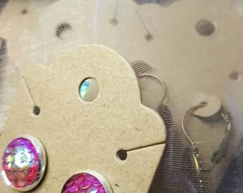 Scales Earrings - Mermaid Scale Earrings & Dragon Scale Earrings