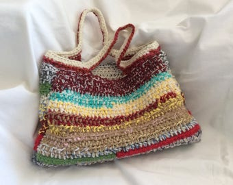 Crochet handbag, upcycling, crochet bag