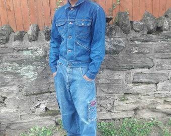 Vintage wrangler denim jacket size 44 mens