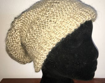 Hand knitted slouchy