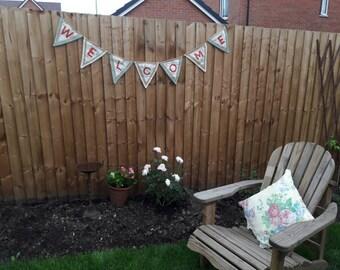 Garden welcome bunting