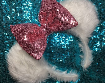 Fluffy white Mouse Ears!