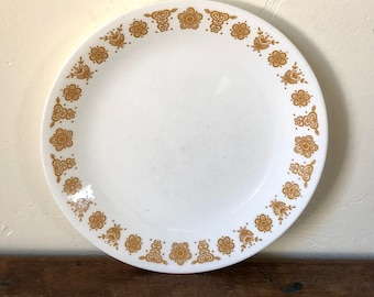 Lunch Plate / Butterfly Gold / Salad Plate / Butterfly Gold Corelle / Vintage Corelle / Vintage Golden Butterfly / Vintage Kitchen