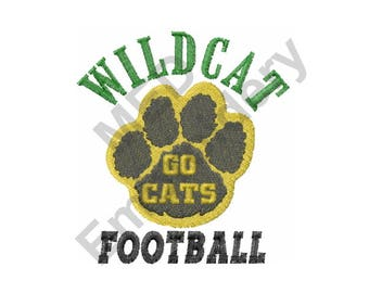 Football - Machine Embroidery Design, Wildcat Football