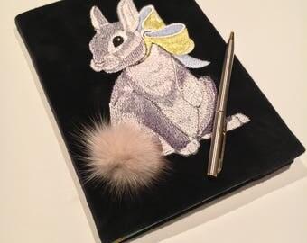 Bunny Velvet Notebook