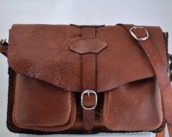 Brown Leather Shoulder/Messanger Bag