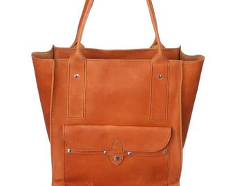 Leather Diaper bag, Large leather Top Handle bag, Large leather bag, Leather tote woman, Leather tote women, Modern diaper bag, Womens bag