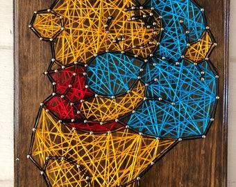 Winnie the Pooh String Art