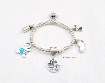 BIRTHDAY bracelet plated silver