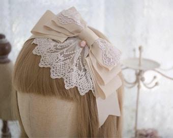Lolita Kawaii Lace Bow Headband