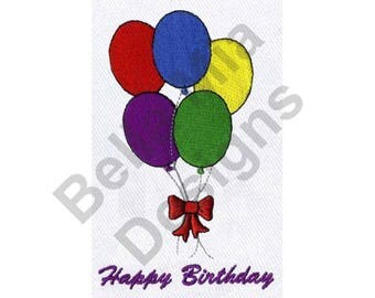 Balloons - Machine Embroidery Design, Birthday Balloons