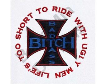 Biker B*tch Saying - Machine Embroidery Design