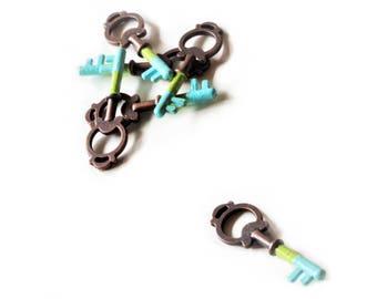 Skeleton Key Necklace  | Bronze Key Charm Necklace | Steampunk Jewelry | Victorian Key Jewelry