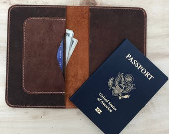 Leather Passport Holder, Leather Passport Wallet,Travel Wallet,Leather Journal Notebook,portefeuille en cuir de voyage