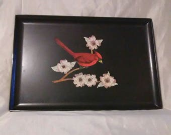 Vintage Couroc Inlaid Serving Tray