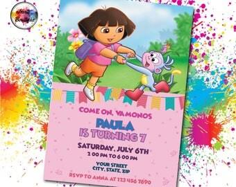 Dora digital paper Etsy