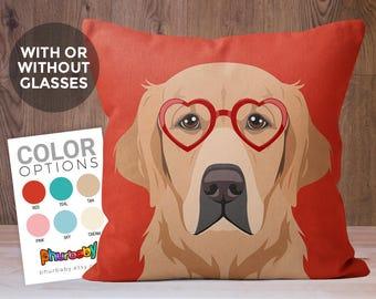 Golden Retriever Pillow | Wife Gift | Dog Gift | Throw Pillow Dog Gift | Fiance Gift | Best Friend Gift | Gifts Under 20 | Cute Dog Pillow