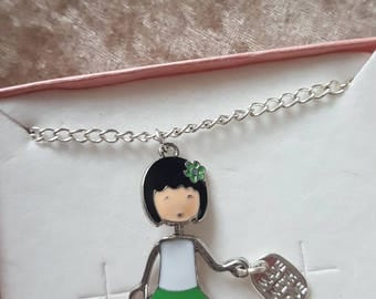 Cute charm girl necklace