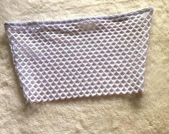 Fishnet Boob Tube (White)