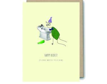 Happy Bidet Greetings Card