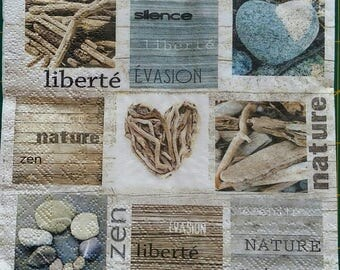 5 nature decor paper napkins