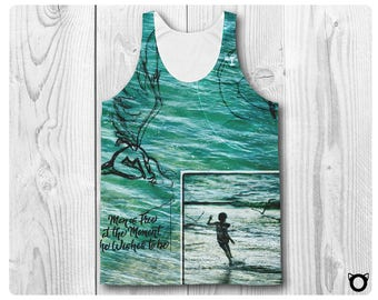 """Unisex Classic Fit Tank Top """"I Am Here"""""""