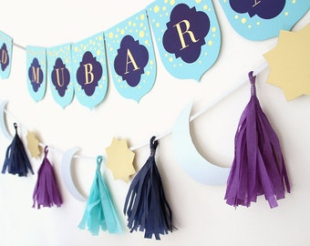New Moon Craft Eid Banner Kit