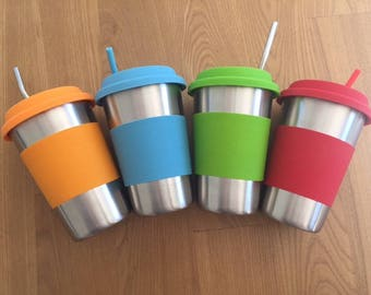 Eco Friendly Stainless Steel Reusable Smoothie/Juice Keep Cup