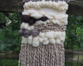 Weaving // Woven Wall Hanging // Home Decor // Stormy Clouds Tapestry