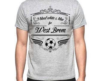 Mens West Bromich Albion Grey T-Shirt