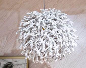 Davina Home Handmade Deep-sea Corals Ceiling Lamp, Unique Lamp, Wood Lamp