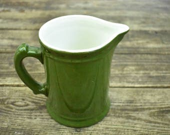 Dark Green Pitcher by Hall Pottery
